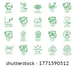 collection of linear icons or... | Shutterstock .eps vector #1771590512