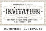 397 Font Invitation. Craft...