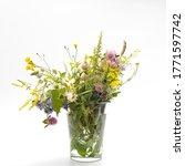 Wild Field Herbs In Bottles Of...