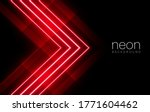 abstract red light neon arrow...   Shutterstock .eps vector #1771604462