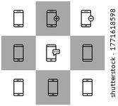 smartphone vector icon modern...