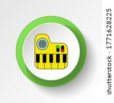 cartoon piano toy colored...