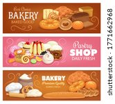 bakery shop pastry and bread... | Shutterstock .eps vector #1771662968