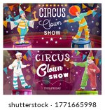 Clowns Comedy Show On Big Top...