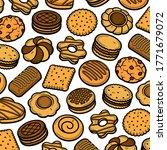 cookies pattern background set. ... | Shutterstock .eps vector #1771679072