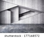 abstract wall of interior... | Shutterstock . vector #177168572