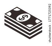 bills money dollars silhouette... | Shutterstock .eps vector #1771725392