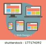 web design illustration | Shutterstock .eps vector #177174392