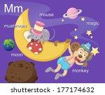 Alphabet.m Letter.mushroom Moo...
