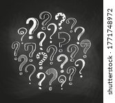 set of hand drawn question... | Shutterstock .eps vector #1771748972