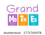grand mother text as periodic...   Shutterstock .eps vector #1771765478