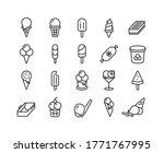 Ice Cream Line Icons. Different ...