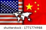america usa vs china... | Shutterstock . vector #1771774988