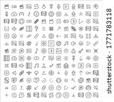 simple set of sign icons in...