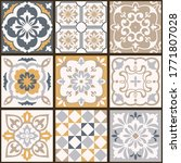 collection of tiles in turkish... | Shutterstock .eps vector #1771807028