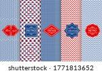 set of seamless geometric... | Shutterstock .eps vector #1771813652