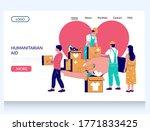 humanitarian aid vector website ...   Shutterstock .eps vector #1771833425