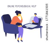 internet psychologist. patient...   Shutterstock .eps vector #1771861505