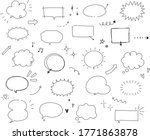 handwritten style speech bubble ... | Shutterstock .eps vector #1771863878