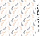 seamless feather pattern design ... | Shutterstock .eps vector #177186926
