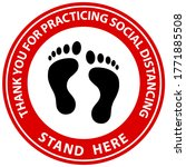 social distancing concept for...   Shutterstock .eps vector #1771885508