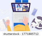 work from home concept. top... | Shutterstock .eps vector #1771885712