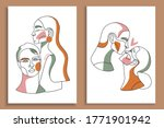modern abstract faces with... | Shutterstock .eps vector #1771901942