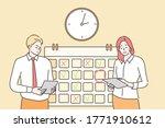 time management  multitasking ... | Shutterstock .eps vector #1771910612