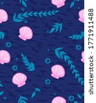Seamless Pattern With Shells ...