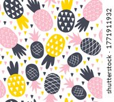 seamless pattern with pineapple ...   Shutterstock .eps vector #1771911932