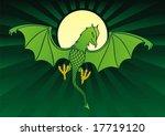 green daemon on dark green... | Shutterstock .eps vector #17719120