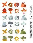 vector nature logos   Shutterstock .eps vector #17719231