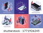 isometric computer repair...   Shutterstock .eps vector #1771926245