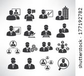business people icons  business ...   Shutterstock .eps vector #177192782