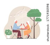 elderly couple spends time...   Shutterstock .eps vector #1771930598