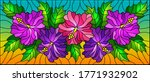 illustration in stained glass... | Shutterstock .eps vector #1771932902
