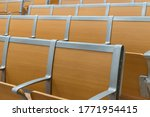 Rows Of Empty Chairs In The...