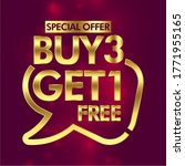 buy 3 get 1 free in brackets...   Shutterstock .eps vector #1771955165