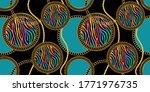 seamless golden baroque chains... | Shutterstock .eps vector #1771976735