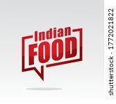 indian food in speech brackets... | Shutterstock .eps vector #1772021822