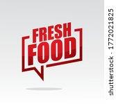 fresh food in speech brackets... | Shutterstock .eps vector #1772021825