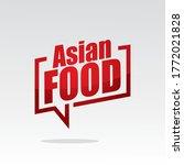 asian food in speech brackets... | Shutterstock .eps vector #1772021828