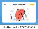 deafness landing page template. ... | Shutterstock .eps vector #1772043605