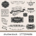 calligraphic design elements... | Shutterstock . vector #177204686