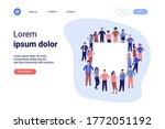 crowd of diverse people... | Shutterstock .eps vector #1772051192