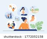 happy life memories concept.... | Shutterstock .eps vector #1772052158