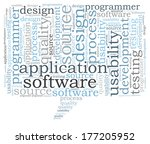 software word cloud | Shutterstock . vector #177205952