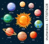 planets of the solar system.... | Shutterstock .eps vector #1772076128