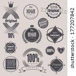 set of retro vintage labels ... | Shutterstock . vector #177207842