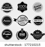 set of premium quality and... | Shutterstock . vector #177210215